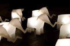 Elephant lamp Stock Images
