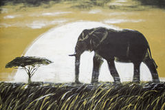 Elephant in landscape Royalty Free Stock Images