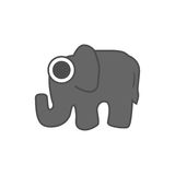 Elephant  , logo graphic design Stock Image