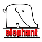 Elephant logo. To your company. Vector illustration Stock Photography