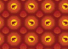 Elephant and lotus background Royalty Free Stock Photo