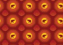 Elephant and lotus background Royalty Free Stock Photo