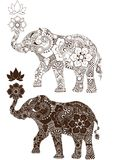Elephant decorated with Indian ornament Stock Images