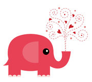 Elephant in love. Vector illustration of Elephant in love Royalty Free Stock Image
