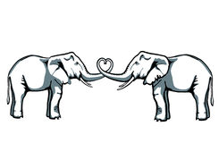 Elephant Love Royalty Free Stock Image