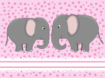 Elephant love Royalty Free Stock Photography