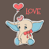 Elephant in love Royalty Free Stock Photos