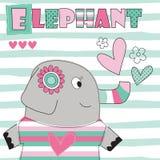 Elephant love vector illustration Royalty Free Stock Image