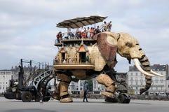 Elephant machine royalty free stock photography