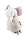 Elephant. Made of clay isolated on white background stock photo