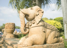 Elephant made of clay. Stock Images