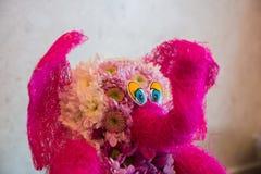Elephant made of flowers Royalty Free Stock Photo
