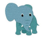 Elephant made out of paper Stock Photo