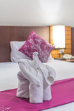 Elephant made from towels Royalty Free Stock Image