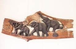 Elephant made from wood Stock Image