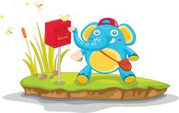Elephant mail Royalty Free Stock Image