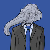 Elephant man Stock Images