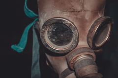 Elephant mask. Gas mask, which we found in the Chernobyl disaster royalty free stock images