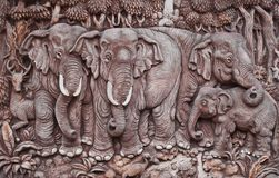 Elephant  molding art Royalty Free Stock Photos