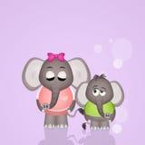 Elephant mom Royalty Free Stock Photos