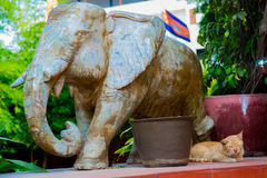 The elephant monument. Phnom Penh, Cambodia. Stock Images