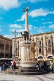 elephant monument symbol of the city of Catania sicily Royalty Free Stock Photo