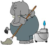Elephant Mopper Stock Photography
