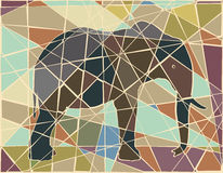 Elephant mosaic Royalty Free Stock Images