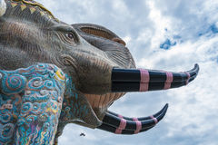 Elephant mosaic wall art Royalty Free Stock Photos