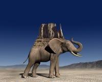 Elephant Mountain Abstract Illustration stock illustration