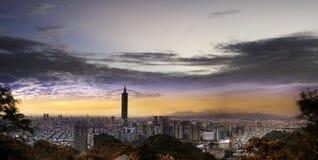Elephant mountain to see Taipei Nig stock photos