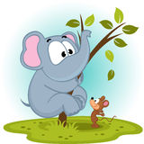 Elephant and mouse. Vector illustration Royalty Free Stock Photos
