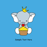 Elephant with a muffin Royalty Free Stock Image