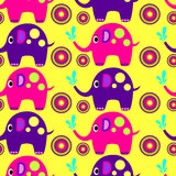Elephant. Multi-colored elephants with balls on a light background royalty free stock images