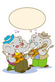 Elephant music Stock Photos