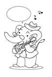 Elephant music3 Stock Photo