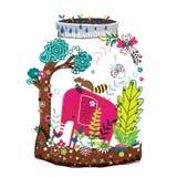 Elephant nature illustration Royalty Free Stock Photos