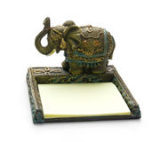 Elephant - note paper Stock Image