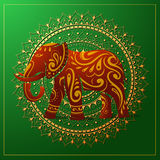 Elephant with orient ornament Stock Images