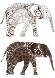 Elephant with oriental patterns Royalty Free Stock Photos