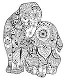 Elephant with ornament Royalty Free Stock Image