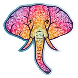 Elephant ornament vector. For wallpaper wall Royalty Free Stock Photo
