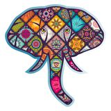 Elephant ornament vector. For wallpaper wall Stock Photos