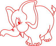 Elephant Outline Stock Photo