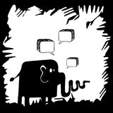 Elephant painted  background with interesting patterns. Royalty Free Stock Photography
