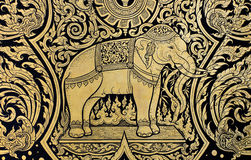 Elephant painting Stock Image