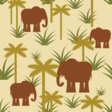 Elephant and palm Military camouflage background. Protective Afr Royalty Free Stock Photography