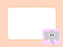 Elephant Paper Memo Royalty Free Stock Photography