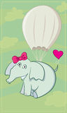 Elephant parachutist Royalty Free Stock Photo