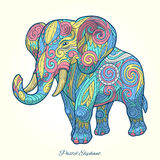 Elephant pastel color ornament ethnic vector Stock Image